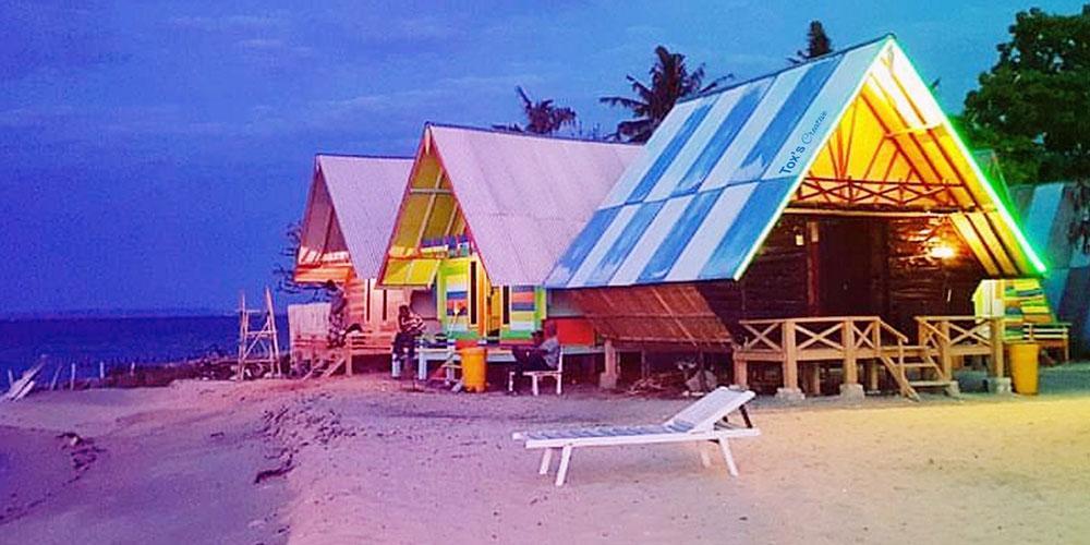 fasilitas penginapan di pantai sembilan gili genting