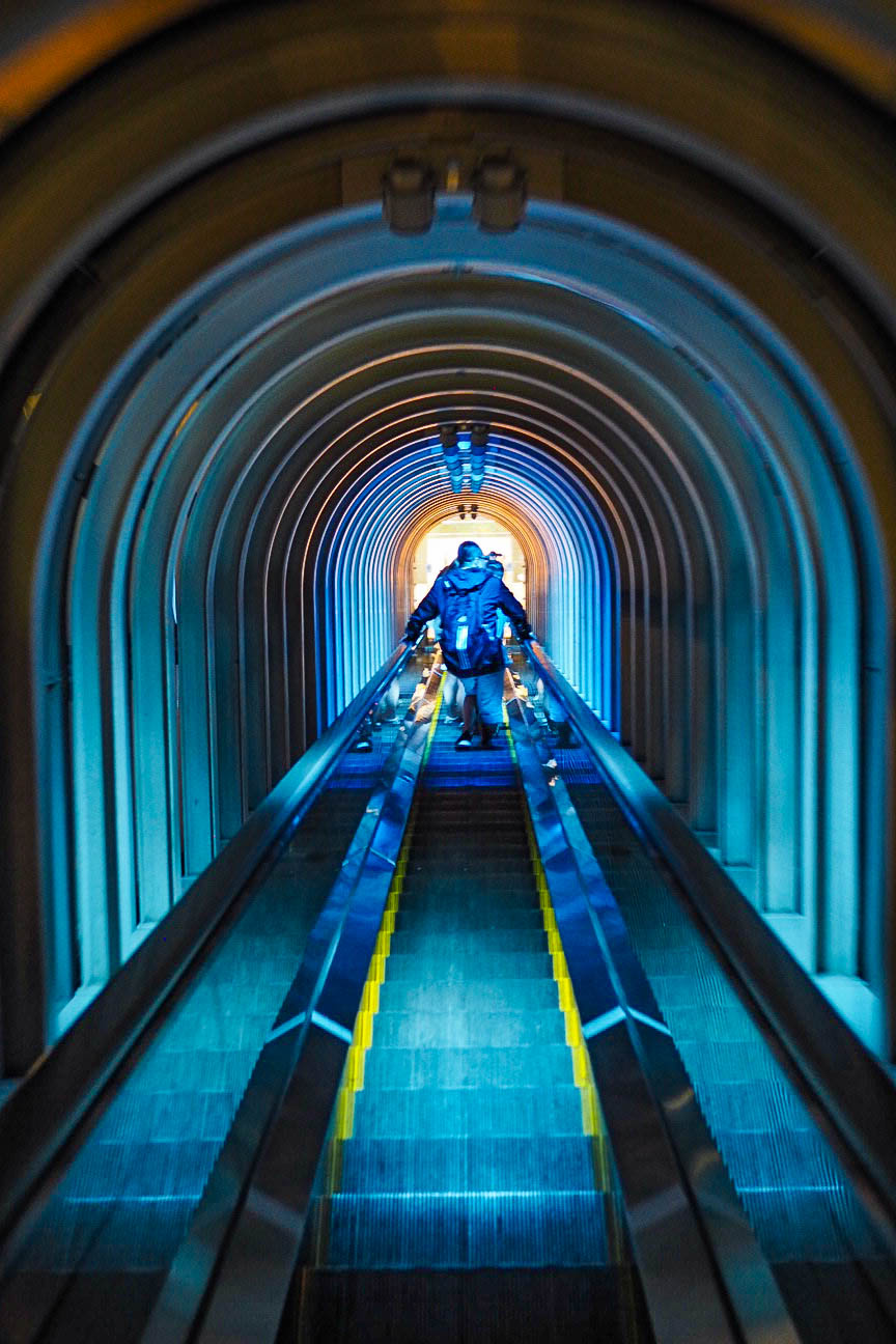 Umeda Sky Building escalators