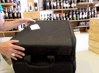 malas de transportes para garrafas de vinhos e azeites