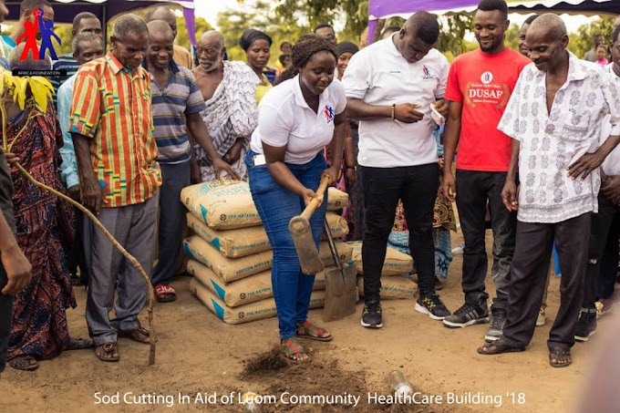 Sod Cutting In Aid Of Luom -Osudoku Community Healthcare Facitlity Building By DUSAF