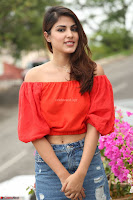 Rhea Chakraborty in Red Crop Top and Denim Shorts Spicy Pics ~  Exclusive 103.JPG