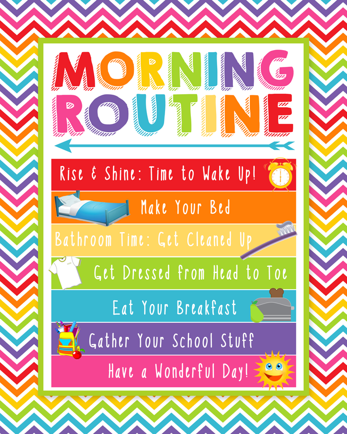 Free Morning Routine Printable | Instant Download | Styles with and without check boxes.