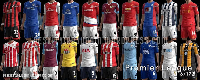 PES 2013 Premier League Kitpack Season 2016-2017