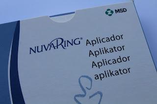 Aplicador do anel vaginal nuvaring® ou circlet®