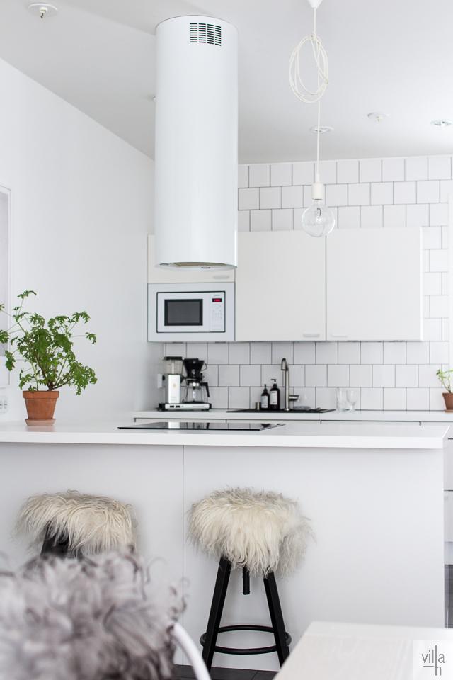 keittiö, viherkasvit, sisustus, pelargonia