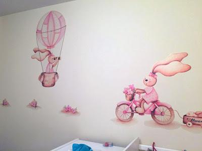 Decopared vinilos para bebes - Murales de pared pintados a mano ...