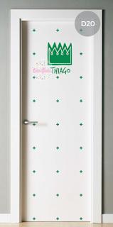 vinilo decorativo puerta infantil corona coronita principe rey