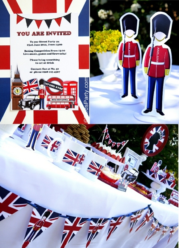 British London Inspired UK Street Party with Printables
