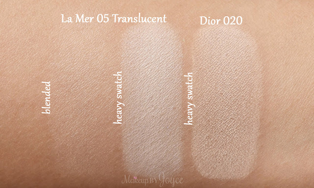 La Mer The Powder 05 Translucent Swatches