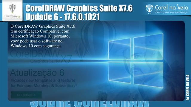 Atualização 6 do CorelDRAW Graphics Suite X7
