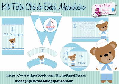 Kit Festa Chá de Bebê Marinheiro