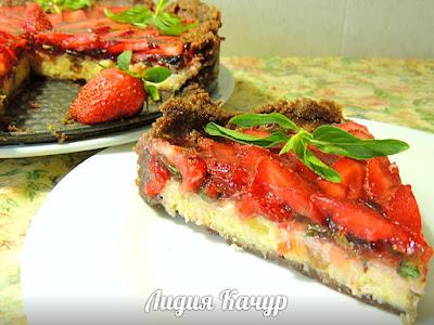 клубничный торт простой рецепт с фото