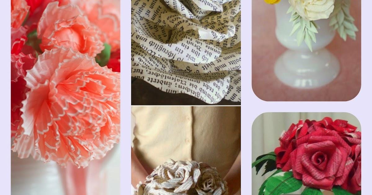 Donneinpink magazine imperdibili tutorial fiori di carta for Fiori di carta di giornale
