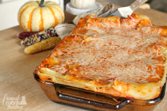 This creamy and cheesy Luscious Rosa Lasagna from Bertolli will be the star of your Tuscan Inspired Sunday Dinner. #BertolliDinnerParty #spon