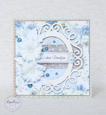 Niebieska kartka urodzinowa