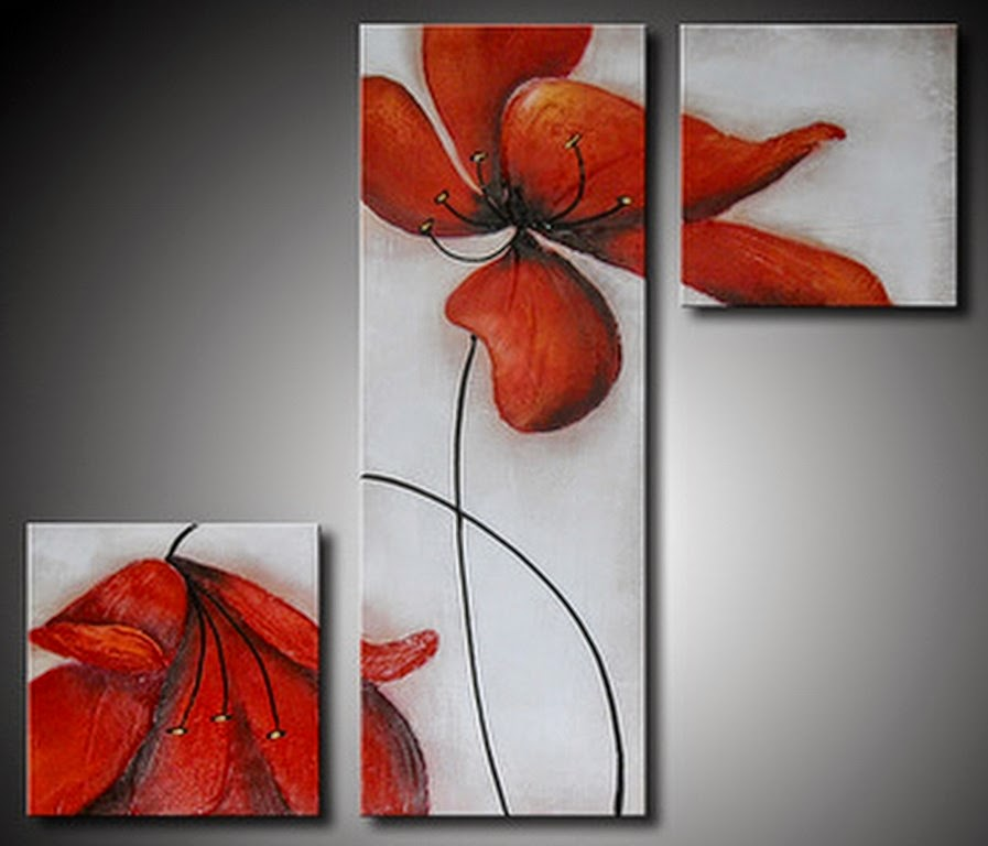 Cuadros modernos pinturas y dibujos tripticos abstractos - Fotos cuadros modernos ...