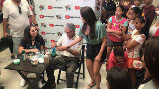 """Nilson Izaias Papinho"" o vovô do Slime na Toy Store no Shopping Registro"