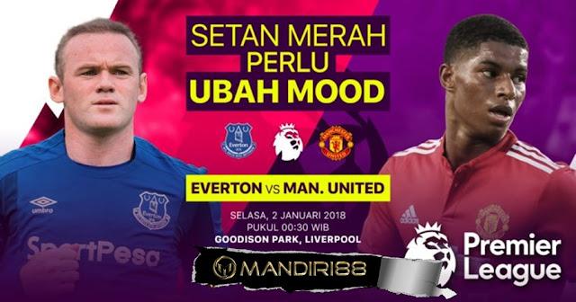 Prediksi Bola : Everton vs Manchester United , Selasa 02 January 2018 Pukul 00.30 WIB @ RCTI
