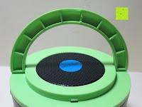 Haken hinten: OUTAD 2-in-1 Outdoor Wireless Bluetooth Lautsprecher & LED Lampe mit eingebautem Mikrofon, einstellbarem Licht und Broadcom 3.0