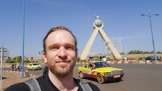 Me in front Malian Roundabout