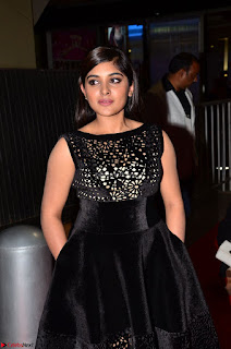 Niveda Thomas Black Sleeveless Cute Dress at 64th Jio Filmfare Awards South 2017 ~ Exclusive 001