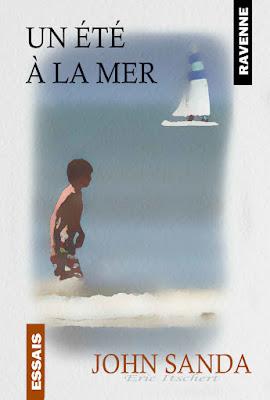 illustration numérique, couverture, livre, mer, plage,