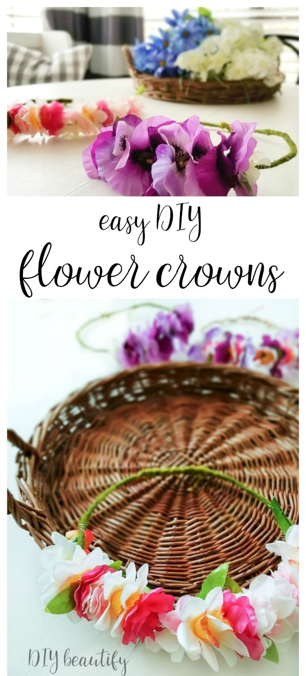 easy floral crowns to make