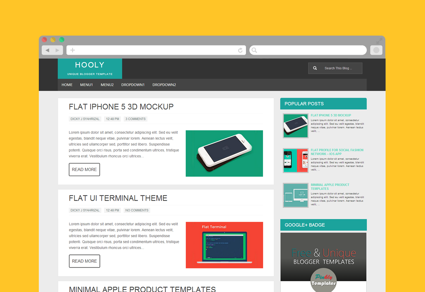 Hooly Blogger Template