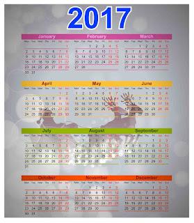 2017カレンダー無料テンプレート21