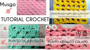 4 Puntadas a Crochet explicadas paso a paso