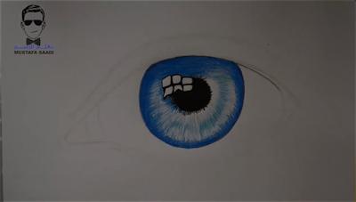 تعلم رسم العين