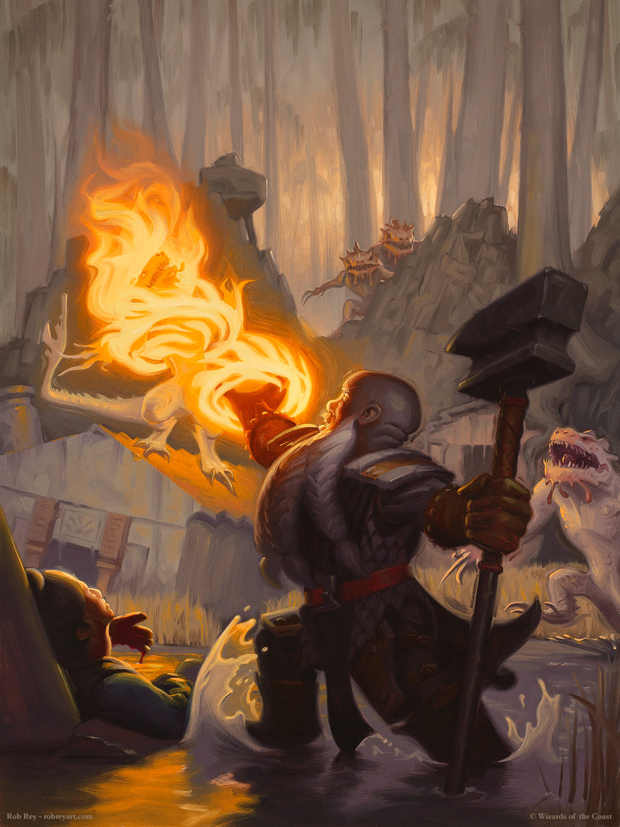 Sacred Flame by Rob Rey - robreyart.com - D&D 5th Edition Player's Handbook.