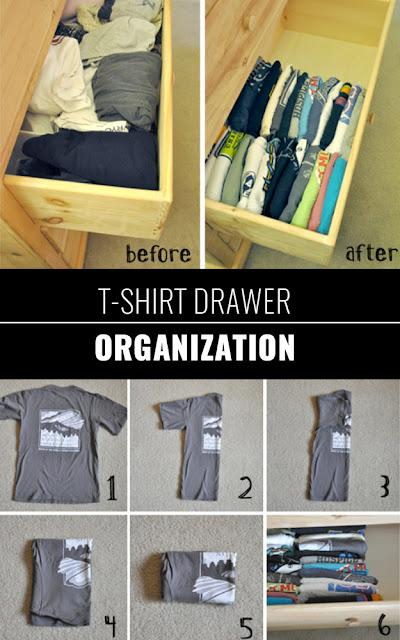 organizacja koszulek, organizacja szafy
