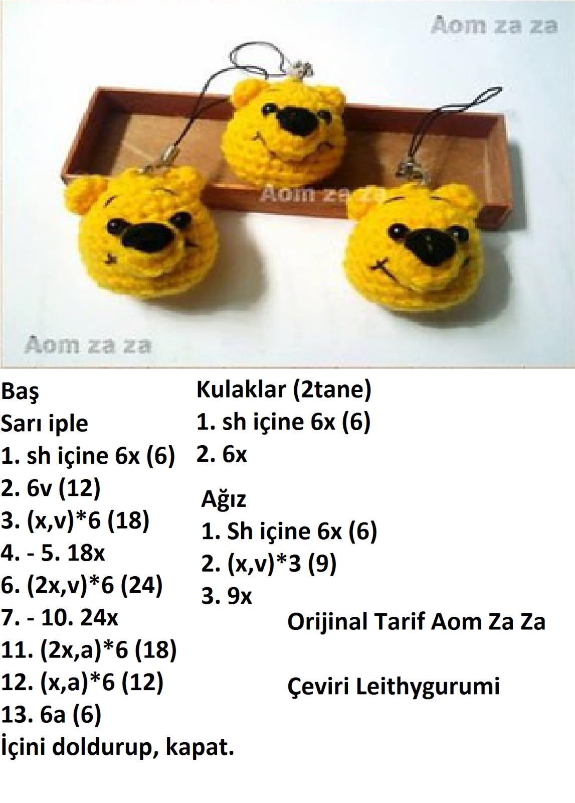 Crochet Amigurumi Winnie The Pooh Free Patterns | Pooh ayı, Kroşe ... | 1600x1147
