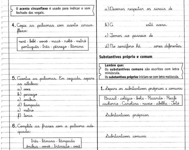 Atividades Com Substantivos Próprio E Comum Livro Caderno Do