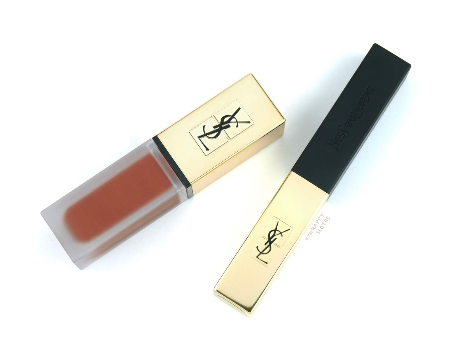 "Yves Saint Laurent | Rouge Pur Couture The Slim Matte Lipstick in ""21 Rouge Paradoxe"" & Tatouage Couture The Metallics Matte Stain in ""103 Tribal Copper"": Review and Swatches"