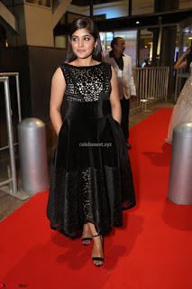 Niveda Thomas Black Sleeveless Cute Dress at 64th Jio Filmfare Awards South 2017 ~  Exclusive 103.JPG