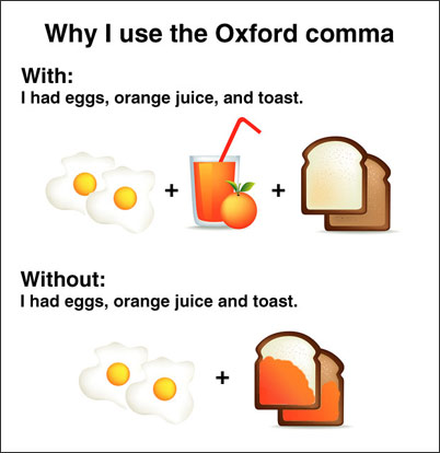 For want of an Oxford comma - comma and and
