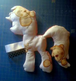 poney, étiquettes, doudou, plat, coton, nounours, mignon
