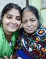 Neha Shree with her Mother.