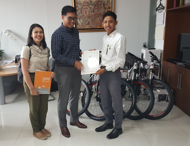 Ruangguru.com Bekerja Sama dengan Kementerian Sekretariat Negara Berikan Sepeda Presiden untuk Pemenang Kuis Pancasila