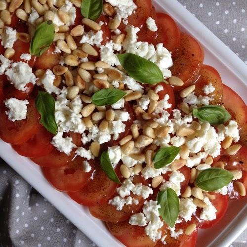 Tomatensalat mit Zitronen-Vanille-Sirup