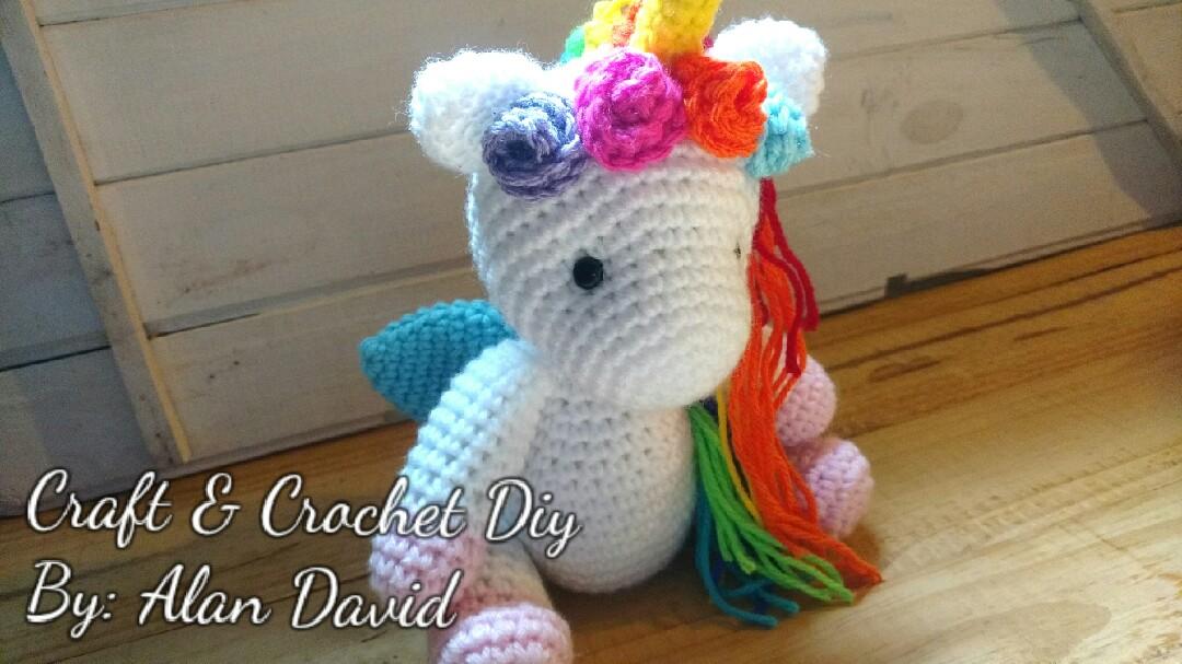 Unicornio Amigurumi Tejido Crochet Grande Apto Bebés - $ 1.800,00 ... | 607x1080