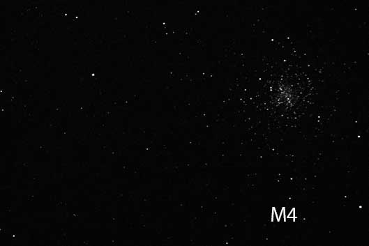 M4 shows up in telescope at Julian Star Party at Menghini Winery (Source: Palmia Observatory)