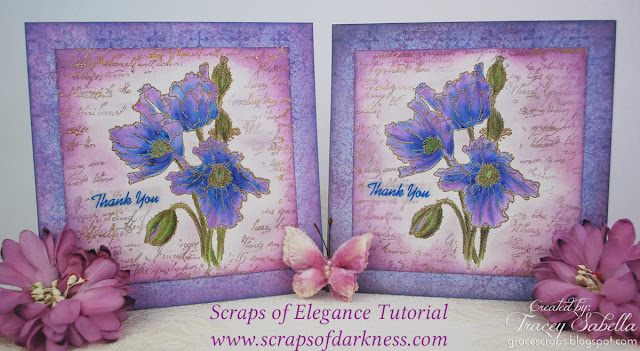 Watercolor Poppies cards by Tracey Sabella