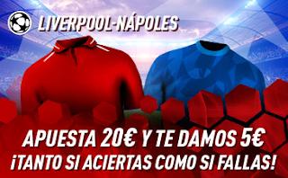 sportium promocion champions Liverpool vs Napoles 11 diciembre