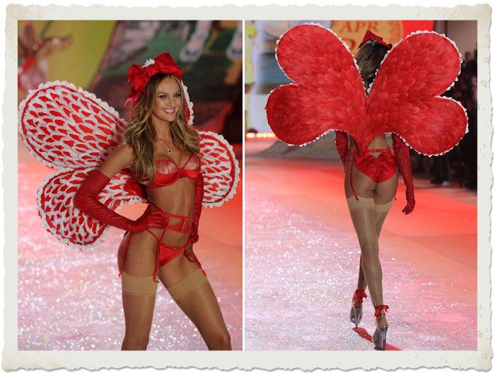 Candice Swanepoel sfila nel tema Calendar girls del Victoria's Secret Fashion Show 2012