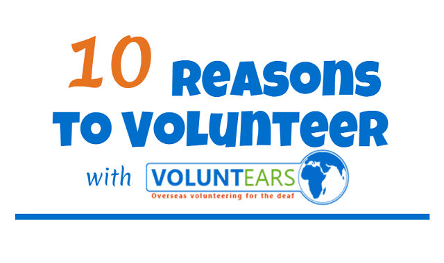 10 reasons to volunteer with VoluntEars