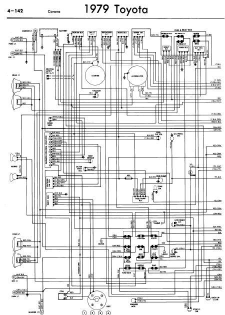 repairmanuals: Toyota Corona 1979 Wiring Diagrams