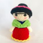 patron gratis muñeca frida kahloamigurumi | free amiguru pattern frida kahlo doll